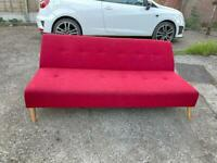 🚚🚚✅✅Beautiful Clic Clic Red Sofa Bed For Sale Good Condition Free Delivery Radius Appy✅✅