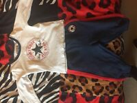 2x Baby boys tracksuit, French connection & converse