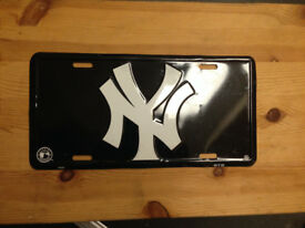 official New York yankees license plate baseball £10 enamel