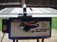 Draper 10 inch Circular Bench Saw