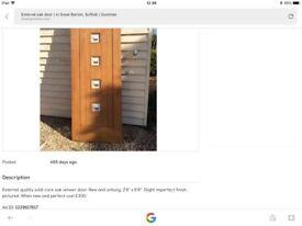 Hardwood oak exterior doors
