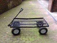 Quality Metal Trolley With Four Wheels And Steering Handle As Per Pic Bargain