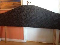 Black patterned kingsize headboard