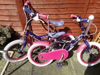 Girls kids bikes x2 and go kart