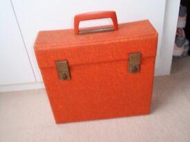 Original Vintage / Retro Vinyl Record Case / Carrier