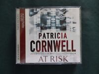 "Audio Book - Patricia Cornwell - ""At Risk"". 4 CD's, running time 4 hours."