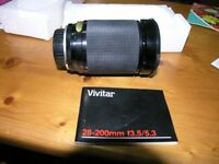 Olympus Fit Vivitar 28 to 200 Makro 1 To 4 Zoom Weymouth Free Local Delivery