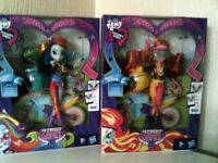 My Little Pony Equestria Girls Rainbow Dash And Sunset Shimmer Dolls Boxed