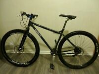Surly karate monkey medium 29er mountain bike, 1x9 shimano saint/XT, new mavic wheel