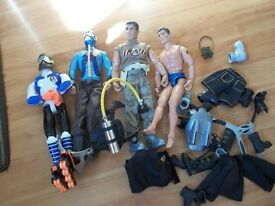 Action men with accessories