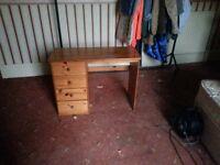 Solid pine desk