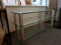 Glass coffee table & TV stand