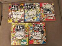 TOM GATES BOOKS x5 by Liz Pichon