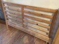 Ikea Tarva double bed frame in solid pine