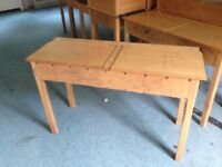 Old Pine School Desk