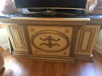 Used Luxury Made in Italy Arredo Classic Gold Leaf Design Sideboard