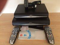 2 X Pristine Latest 3D ready Sky+HD boxes+remotes + LNBFand Manual - £30.00