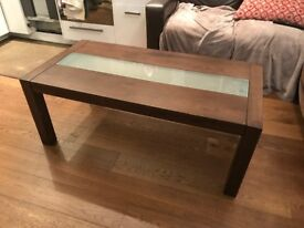 Beautiful Julian Bowen Santiago Coffee table with frosted glass panel