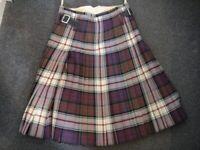 Mens kilt Mcdonald dress tartan waist 30-32 inches, drop 25 inches, by Alex Scott and co
