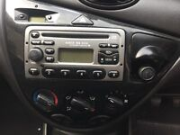 ford focus mk1 cd player with code and keys