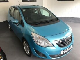 VAUXHALL MERIVA EXCLUSIV TURBO 1.4/2011-11/COMES WITH 6 MONTHS WARRANTY + A FULL MOT/LOW MILES