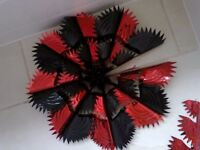 Large star decorations.......red/black.....2 for £1.50