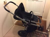 Quinny buzz xtra pushchair, carry cot and accesories