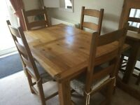 Farmhouse kitchen table & 4 Chairs