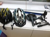 COLLECTION OF BIKE ACCESSORIES