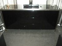dwell black high gloss sideboard for sale