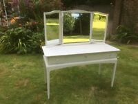 Hand Painted Stag Dressing Table in light grey