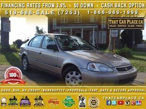 2000 Honda Civic Special Edition-LOW KM'S-CHEAP-RELIABLE-4DR-AUT