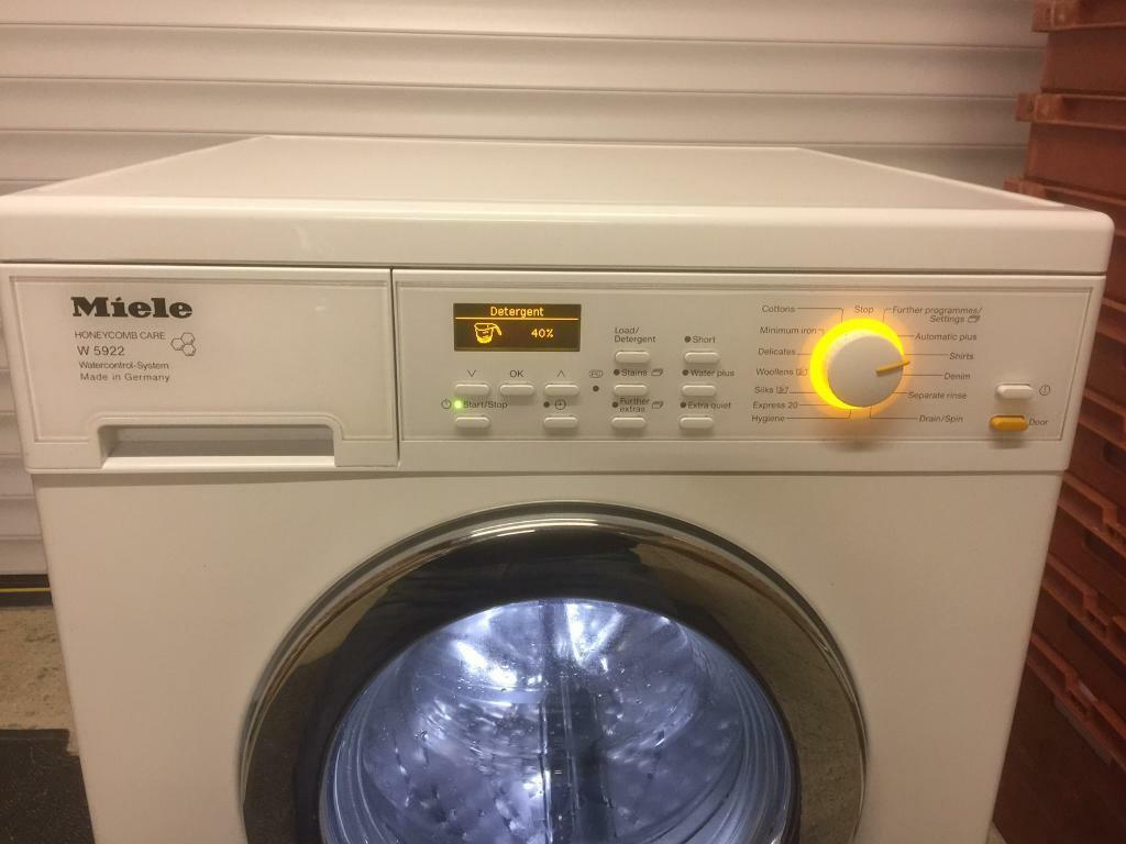Miele Honeycomb Care Drum Washing Machine W5922 1600 Spin