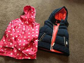 2 GIRLS COATS AGE 6, £10 FOR BOTH