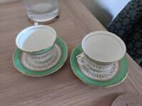 2 Royal Worcester tea cups