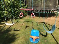 TP metal frame triple swing plus baby/toddler bucket seat NOW DISMANTLED
