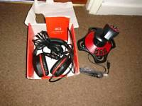 PC headset and joystick