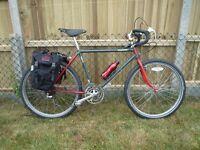 Bridgestone cyclocross + extra set of flat bars - Carradice Bags - Brooks saddle