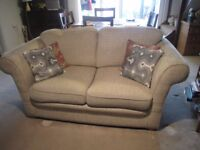 2 seater sofa - free for collection - fabric beige colour woven pattern