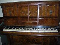Free Boyd upright grand piano.iron frame walnut case