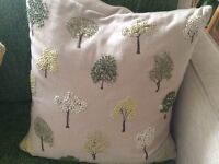 A selection of cushions available