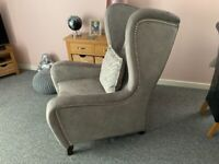 Ariana two seater sofa and high back chair