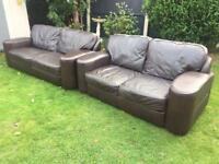 Dfs dark brown soft leather sofas immaculate can deliver