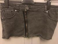 C new look denim skirt size 14