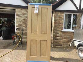 Internal Oak Victorian 4 Panel Door (bare timber)