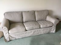Ikea Ektorp 3 seater sofa, vgc, under 2 years old. Machine washable covers. Solid no rips or tears.