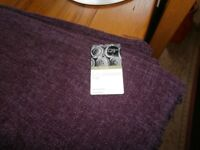 Plum chenille throw