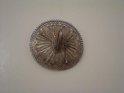 Big Sombrero Hat (Big sterling silver Mexico sombrero hat pin wire)