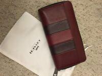COACH: accordion wallet (burgundy/black) *BRAND NEW*