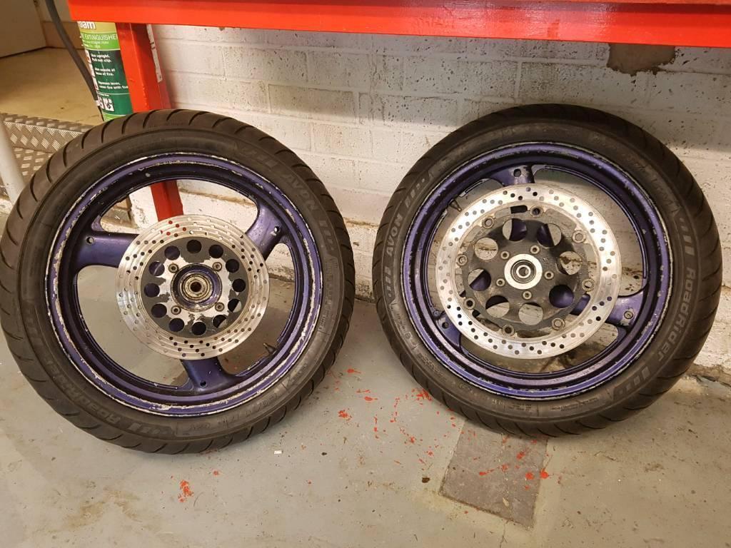 Suzuki gs 500 wheels and tyres